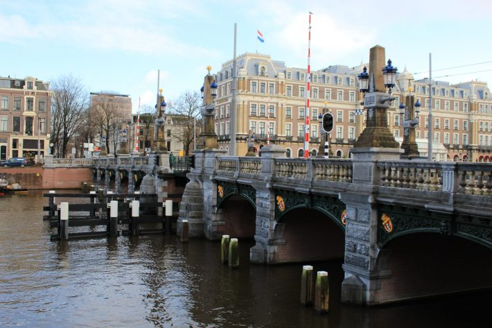 blue bridge, royal bridge, Visiting Amsterdam for the First Time