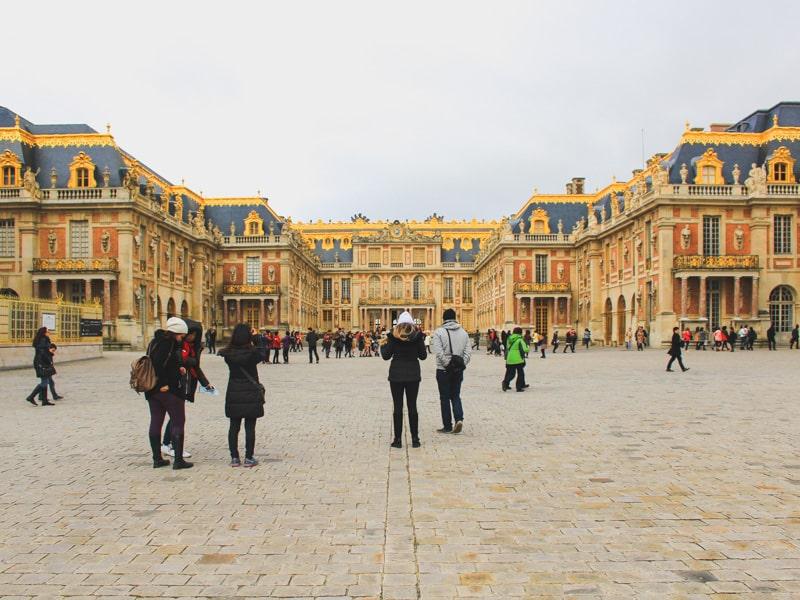 versailles france palace building majestic entrance