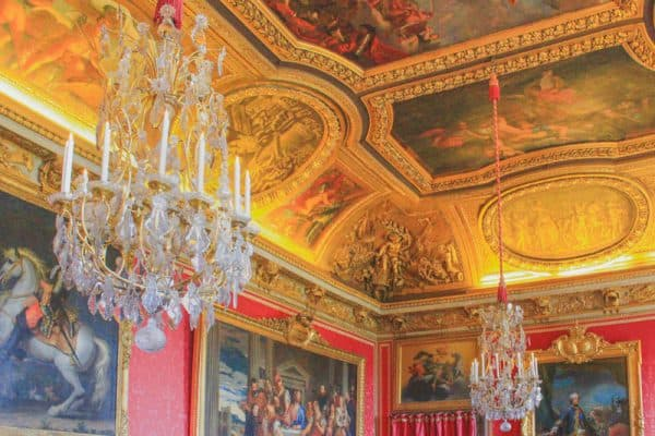 versailles france palace building majestic ceiling