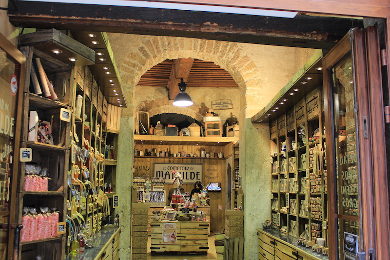 chocolate shop with classic wooden adornments, things to do in lyon france, where to stay in lyon