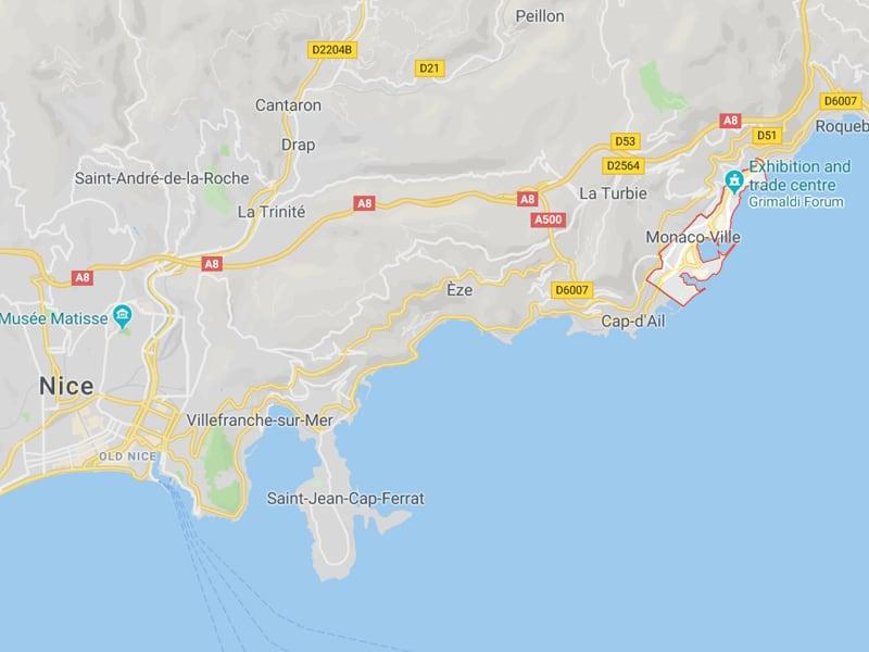 map monaco southern france where is monaco