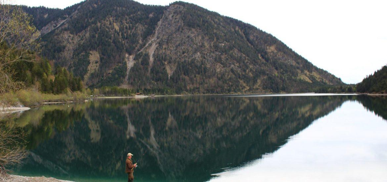 Bavaria fishing reflection
