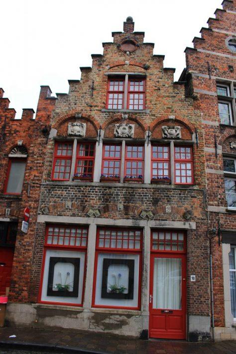Bruges Belgium red brick. first building restored, bruges walking tour, brugge city tour
