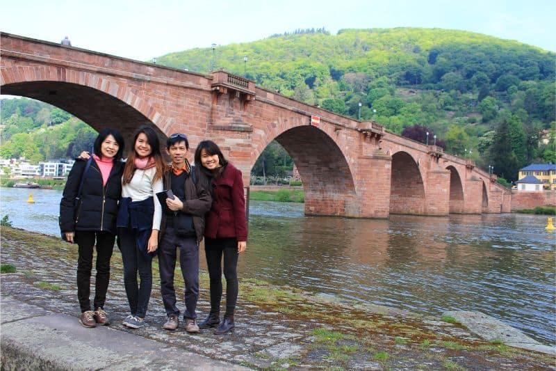 things to do in Heidelberg Germany old bridge family
