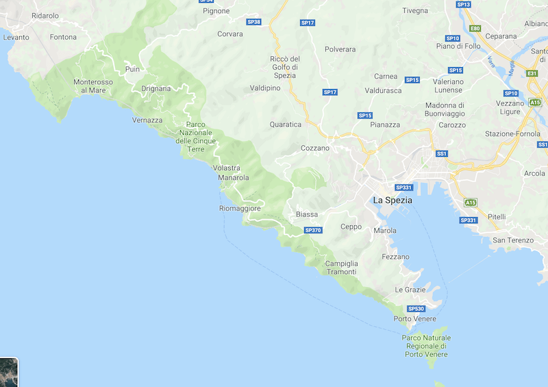 cinque terre map, italy, what to do in cinque terre