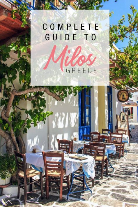 A travel guide on Milos Greece - how to get to Milos, beaches, what boat tour to take, what to do and where to stay in Milos.