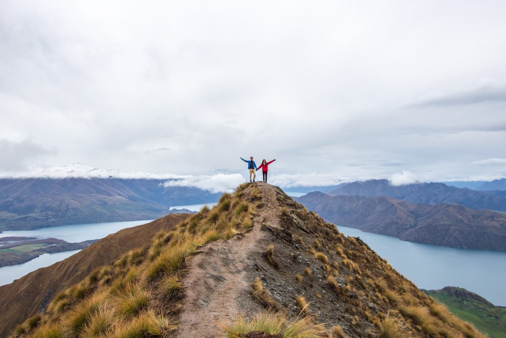 solo traveller, roys peak, new zealand