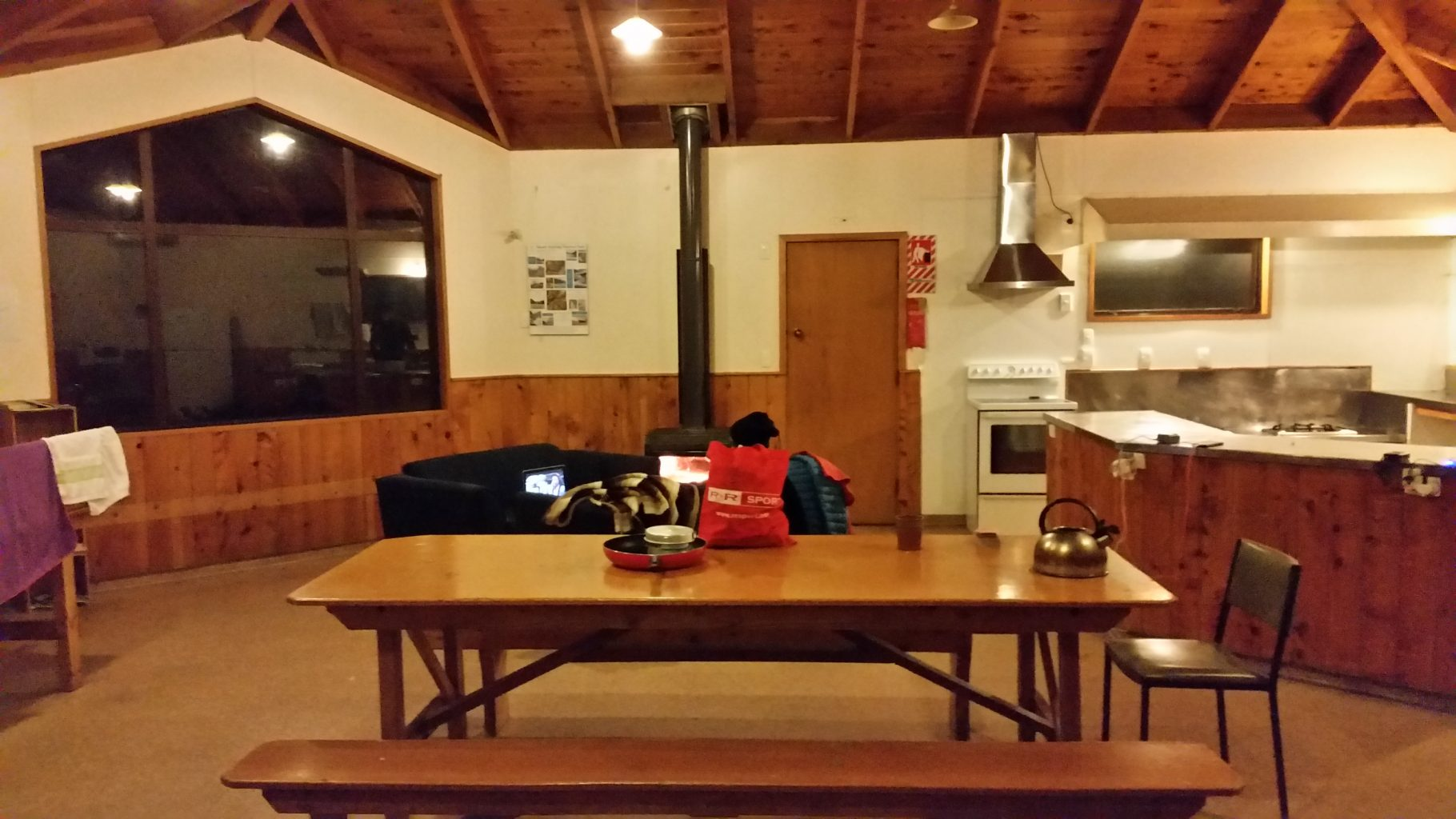 New Zealand Road trip hostel kitchen, driving in new zealand