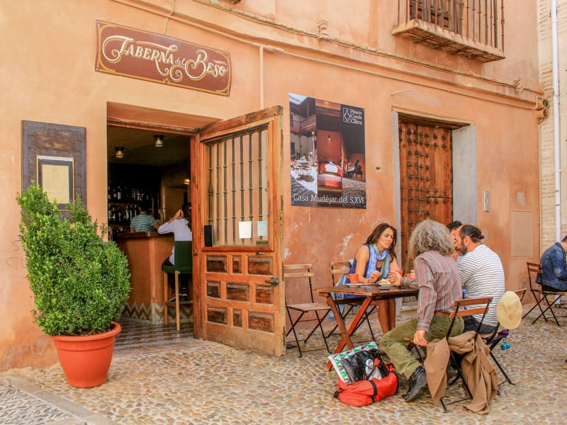 Granada Spain Europe Tapas Bar Free Food Cheap Travel