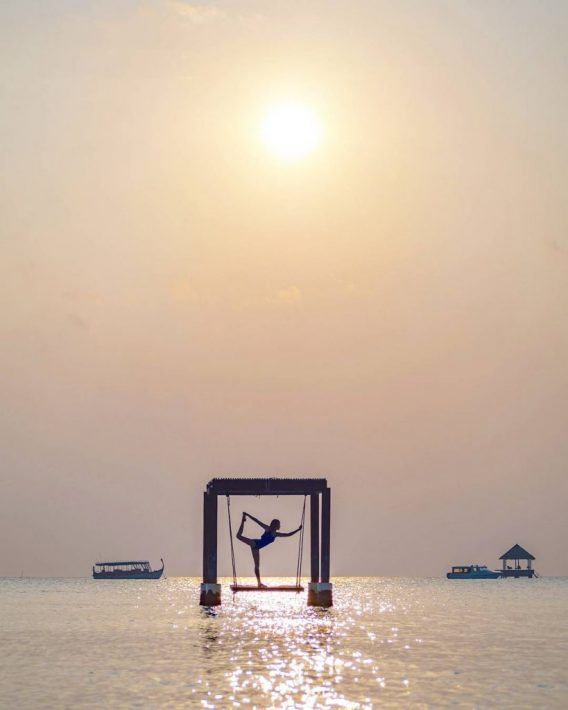 Maldives budget Taj Exotica swing luxury yoga