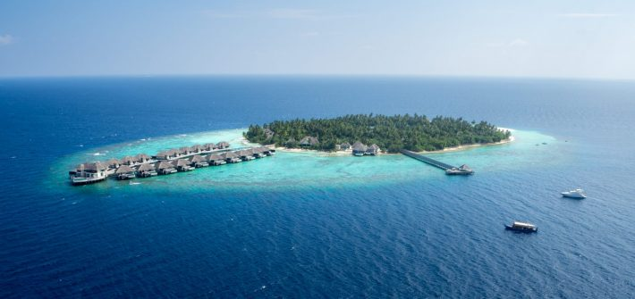 outrigger konotta maldives aerial view island