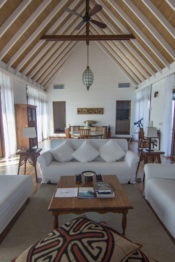 maldives COMO Cocoa Island living room