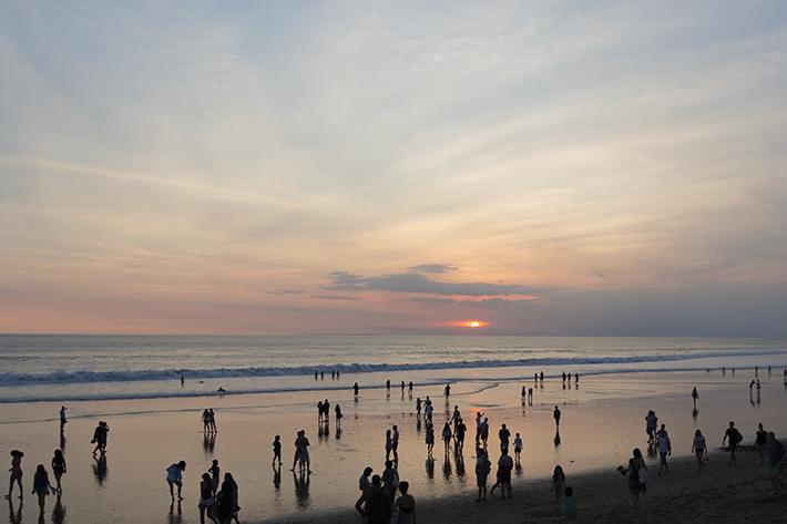 seminyak bali sunset beach