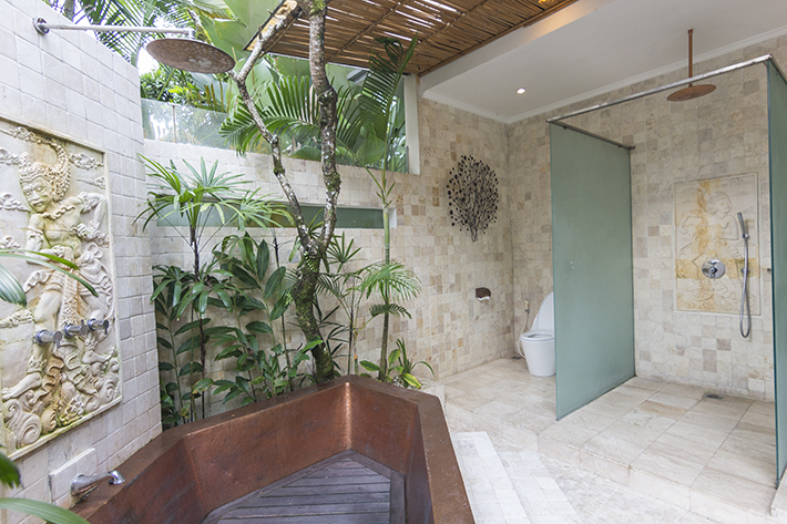 Pandawas Villas, Ubud, Bali outdoor shower