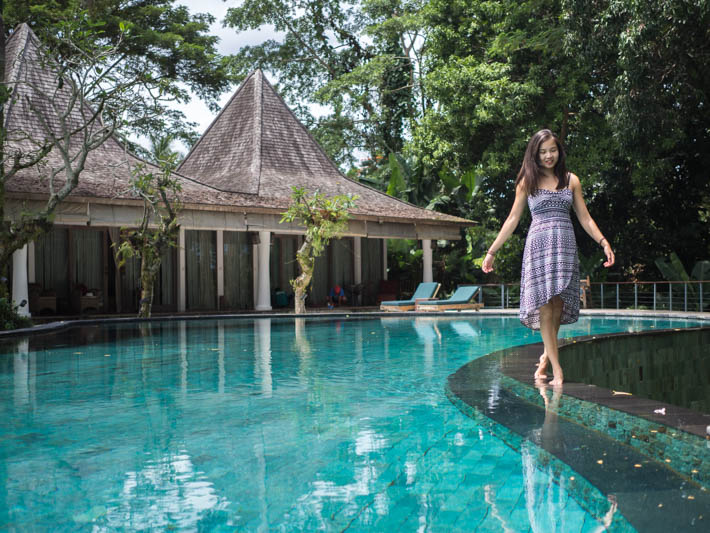 Pandawas Villas Ubud Bali Walking Pool
