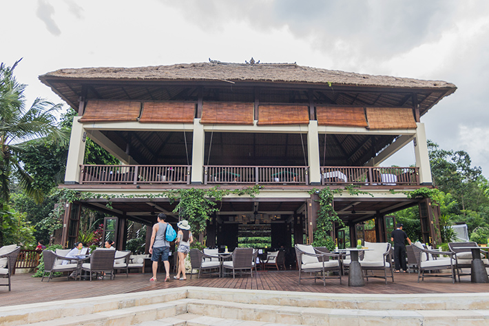 The Garden Bar exterior, hanging gardens of bali ubud