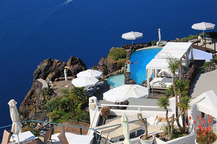 santorini greece infinity pool villa Perfect Greek Villa