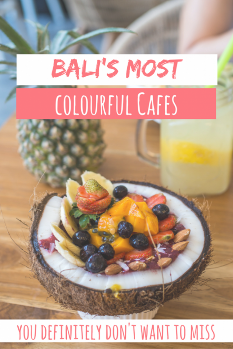 Best Cafes in Bali, Seminyak, Uluwatu, Ubud for breakfast, brunch, or lunch. Whether you like it organic or colourful, find the best spots in Bali here!