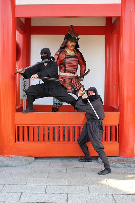 Noboribetsu Date Jidaimura (Ninja Village) entrance ninja