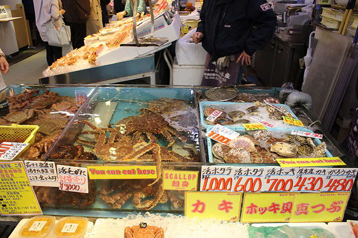 morning market Hakodate & Toya - 6-Day South Hokkaido Itinerary