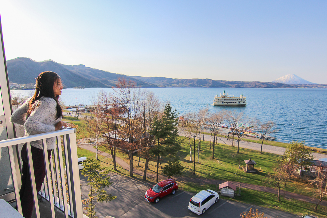 lake toya hotel view