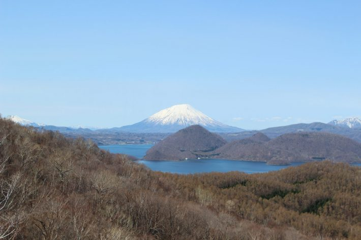 lake toya mount usu view