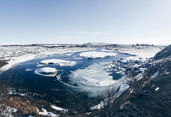 A-frozen-lake-in-Þingvellir-National-Park Blue-Lagoon