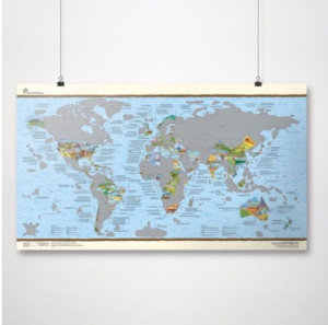 Coloured World Scratch Map TRAVEL GIFTS