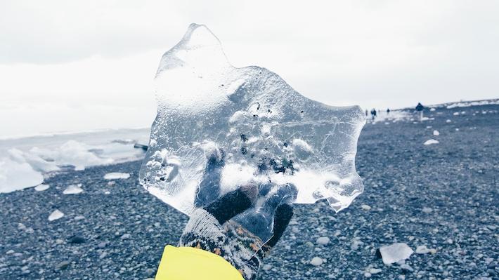 Ice-Jökulsárlón-Glacier-Lagoon Iceland snow