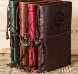 Spiral NoteBook Newest Diary Book Vintage Pirate Anchors PU leather Note Book Replaceable Xmas Gift Traveler Journal(Red) TRAVEL GIFTS