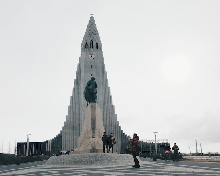 The Hallgrímskirkja church Iceland