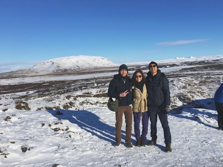 Volcanic-Crater-lake-Kerið Iceland snow