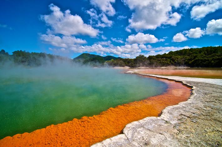 Waiotapu geothermal geyser