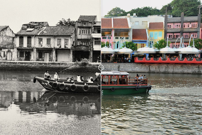 singapore river old vs new
