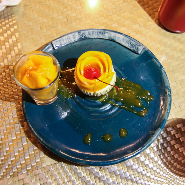 club paradise palawan coron mango cheesecake dessert