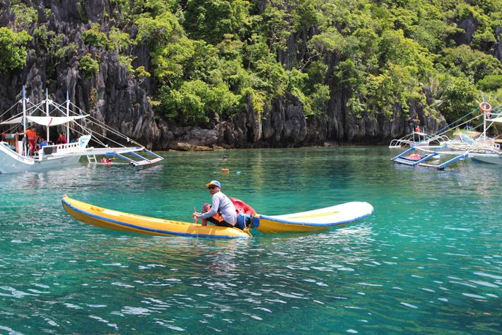 el nido kayak smal lagoon rent kayak