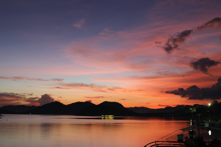 coron palawan sunset sea