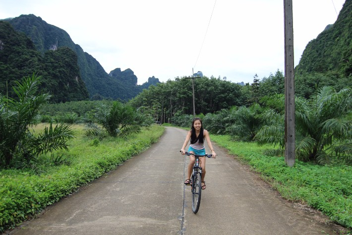 cycling khao sok national park thailand