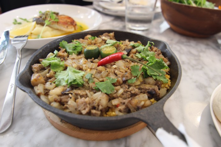 sisig paella, 25 seeds restaurant Clark Philippines