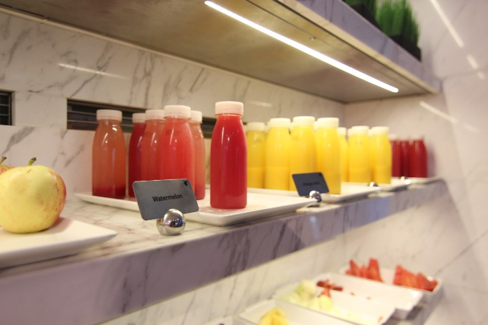 JW Marriott South Beach breakfast fruit juice