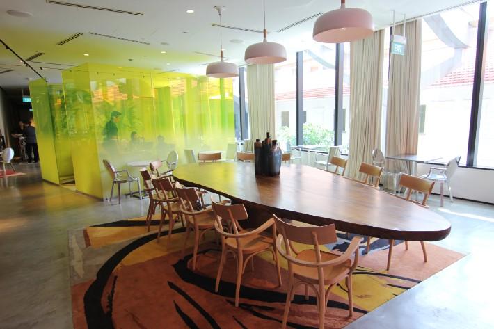 JW Marriott South Beach executive lounge wood table