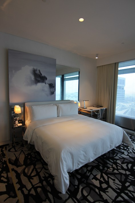 JW Marriott South Beach king bed
