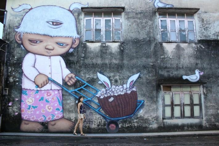 street art mural Phuket Old Town