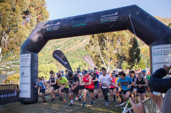 Air New Zealand Queenstown International Marathon start line