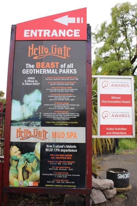 Price package, Hell's Gate Geothermal Park Mud Spa, Rotorua, New Zealand