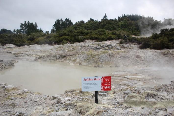 Sulphur Bath, Hell's Gate Geothermal Park Mud Spa, Rotorua, New Zealand