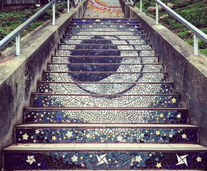 San Francisco - Mosaic Stairs