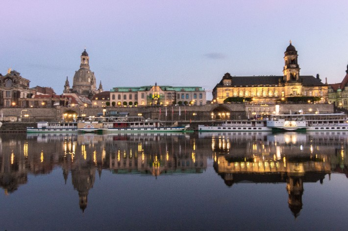 elbe river reflection sunset, Things to Do in Dresden, Germany