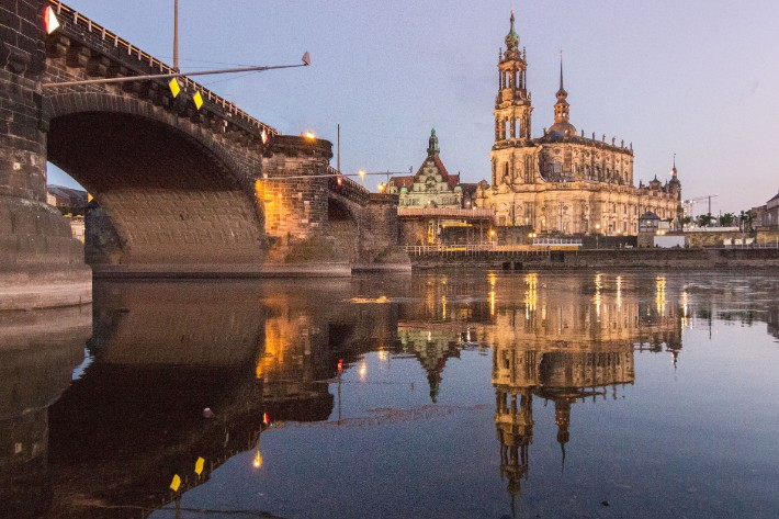 elbe river reflection sunset bridge architecture, Things to Do in Dresden, Germany
