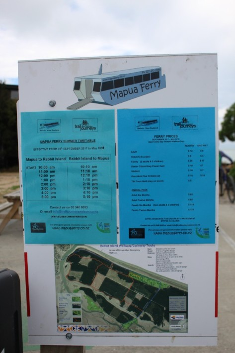 mapua ferry timetable prices, Great Taste Trail Nelson, New Zealand